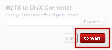 Convert your movie with M2TS to DivX Converter